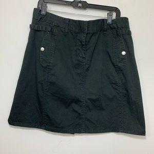 Calvin Klein cotton a-Line mini skirt black Sz 16